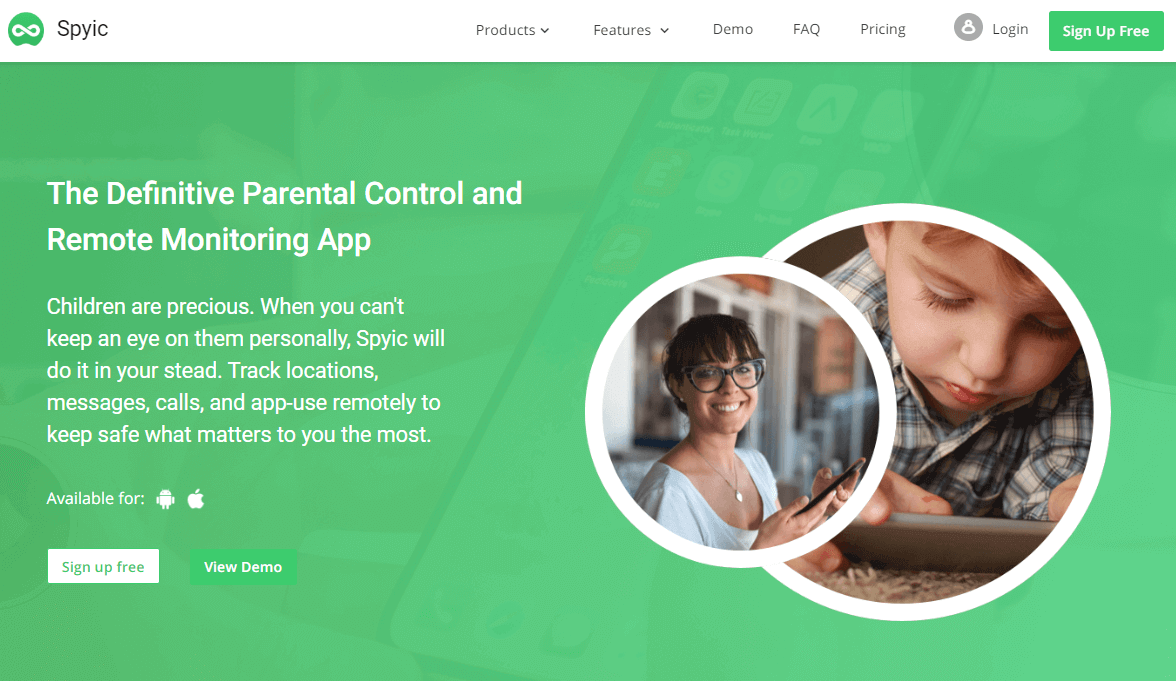 Spyic Homepage