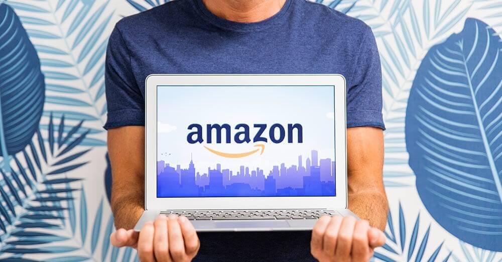 amazon on laptop